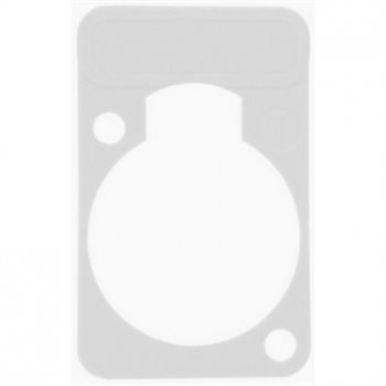 Neutrik Lettering Plate White for D-Chassis Connector DSS-White