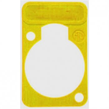 Neutrik Lettering Plate Yellow for D-Chassis Connector DSS-Yellow