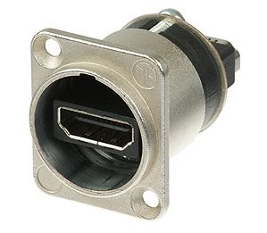 Neutrik HDMI Adaptor Feedthrough 19 pole D/Chassis NAHDMI-W