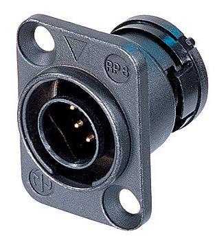 Neutrik NeutriCON Male Chassis Connector Complete Set (Solder Contacts) ORP8M