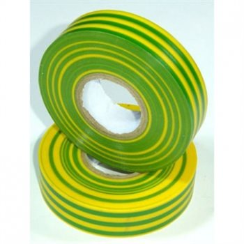 Nu-Pax - Electrical Insulation Tape PVC Green/Yellow 19mm x 33M BS3924 PVC-33M-E/tape-Gn/Yl