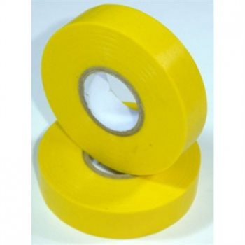 Nu-Pax - Electrical Insulation Tape PVC Yellow 19mm x 33M BS3924 PVC-33M-E/tape-Yl