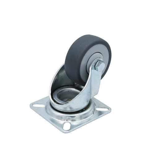 "Penn Elcom 50mm / 2"" Swivel Castor with Grey Wheel W0960  - Click to view a larger image"