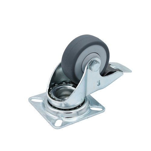 "Penn Elcom 50mm / 2"" Swivel-Braked Castor with Grey Wheel W0995  - Click to view a larger image"