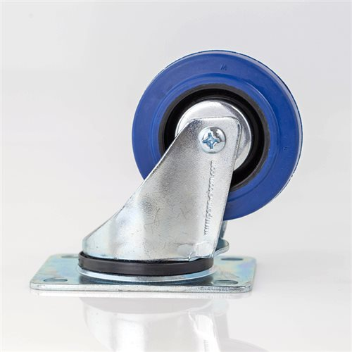 "Penn Elcom 80mm / 3"" Swivel Castor with Blue Wheel W0990/80  - Click to view a larger image"