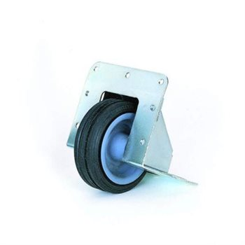 "Penn Elcom Recessed Castor with 75mm / 2.95"" Black Wheel W2080  - Click to view a larger image"