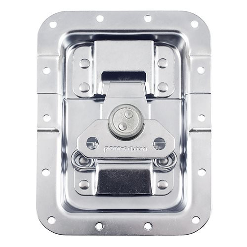 "Penn Elcom Large MOL™ Recessed Butterfly Latch in Deep 27mm / 1"" Offset Dish. Split to Hole: 19mm / 3/4"" L944/527MOL  - Click to view a larger image"