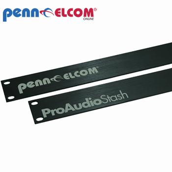Penn Elcom 2U Lazer Etched Aluminium Brushed Rack Panel R1275-2UAKLAZ