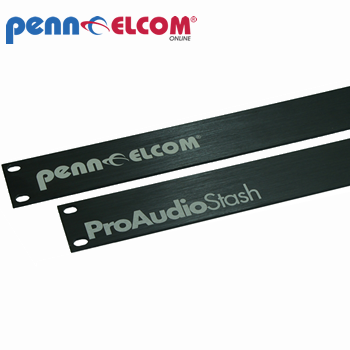 Penn Elcom 4U Laser Etched Aluminium Brushed Rack Panel R1275-4UAKLAZ