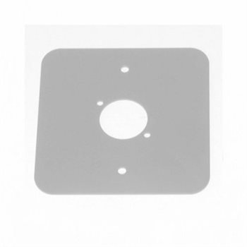 Penn Elcom D/Plate Single S/Grey punched for 1 x  XLR Rounded Corners 81511-RCS  - Click to view a larger image