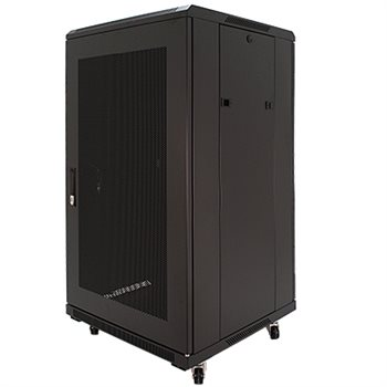 "Penn Elcom 22U 19 Inch Server Rack Enclosure 600mm/23.62"" Deep Perforated Door EMP-6622BK  - Click to view a larger image"