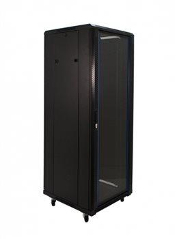 "Penn Elcom 37U 19 Inch Server Rack Cabinet 600mm/23.62"" Deep Glass Door EMS-6637BK"