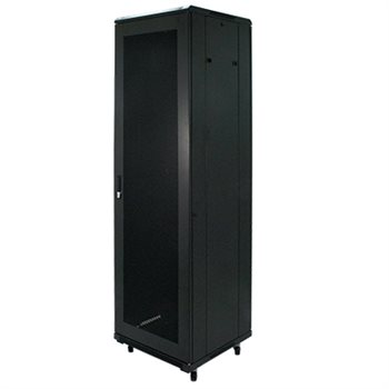 "Penn Elcom 42U 19 Inch Server Rack Enclosure 600mm/23.62"" Deep Perforated Door EMP-6642BK  - Click to view a larger image"