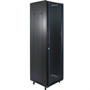 "Penn Elcom 47U 19 Inch Server Rack Enclosure 600mm/23.62"" Deep Glass Door EMS-6647BK  - Click to view a larger image"