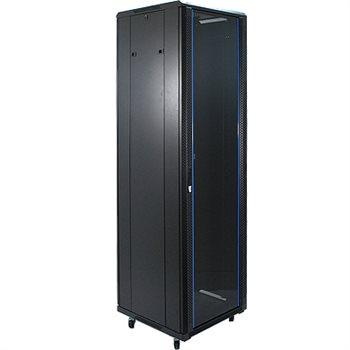 "Penn Elcom 47U 19 Inch Server Rack Enclosure 800mm/31.5"" Deep Glass Door EMS-6847BK  - Click to view a larger image"