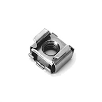 Penn Elcom Cage Nut M6 BZP Wide Slot 2.7 - 3.5mm - 100 Pack S1025-100