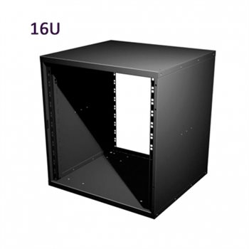 "Penn Elcom 16U 19 Inch Flat Pack Rack Cabinet 480mm/18.9"" Deep R8400-16  - Click to view a larger image"