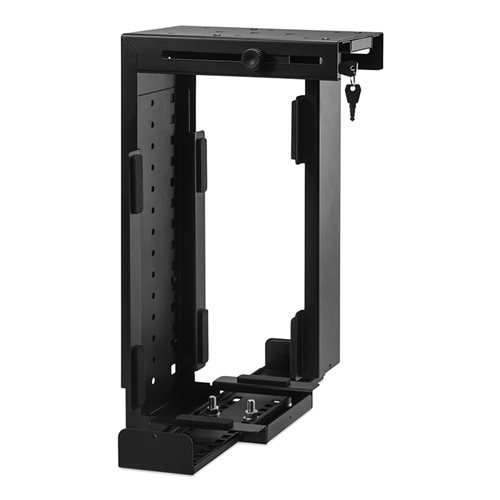 Penn Elcom Rigid Locking Computer Holder Black CPU-87B/L  - Click to view a larger image