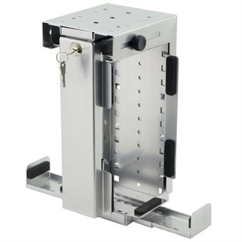 Penn Elcom Slimline Rigid Locking Computer Holder Silver CPU-87S/L-SLIM  - Click to view a larger image