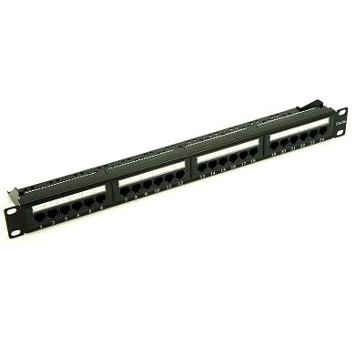 Penn Elcom 19 Inch Rackmount CAT 5e IDC Patch Panel - 24 Way R2245L/1UK  - Click to view a larger image