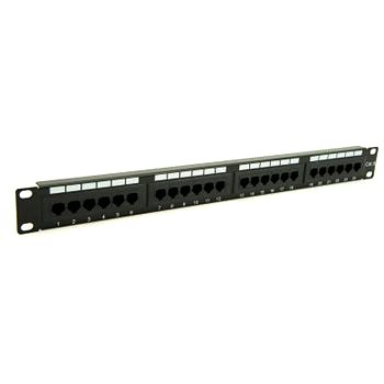 Penn Elcom 19 Inch Rackmount CAT 6 IDC Patch Panel - 24 Way R1245L/1UK  - Click to view a larger image