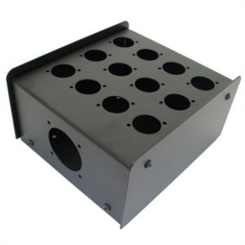 Penn Elcom 12 Hole Stage Box Punched for D-Series Connectors R2350-12  - Click to view a larger image