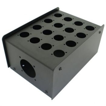 Penn Elcom 16 Hole Stage Box Punched for D-Series Connectors R2350-16  - Click to view a larger image