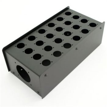 Penn Elcom 24 Hole Stage Box Punched for D-Series Connectors R2350-24  - Click to view a larger image