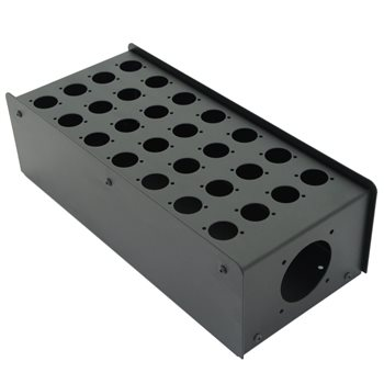 Penn Elcom 28 Hole Stage Box Punched for D-Series Connectors R2350-28  - Click to view a larger image