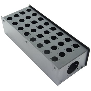Penn Elcom 32 Hole Stage Box Punched for D-Series Connectors R2350-32  - Click to view a larger image