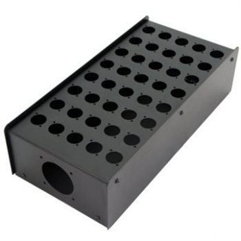 Penn Elcom 40 Hole Stage Box Punched for D-Series Connectors R2350-40  - Click to view a larger image