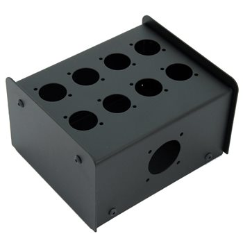 Penn Elcom 8 Hole Stage Box Punched for D-Series Connectors R2350-08  - Click to view a larger image