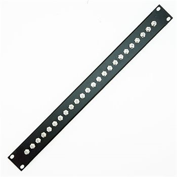 Penn Elcom 1U Punched Patch Panel with 24 x F Type Connectors CP-1000