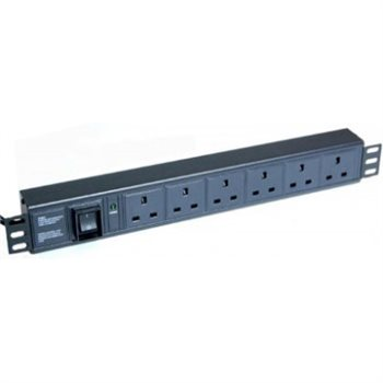 Penn Elcom 6 Way Rack Mountable PDU 2.5U with Switch - UK PDU-BS-6B  - Click to view a larger image