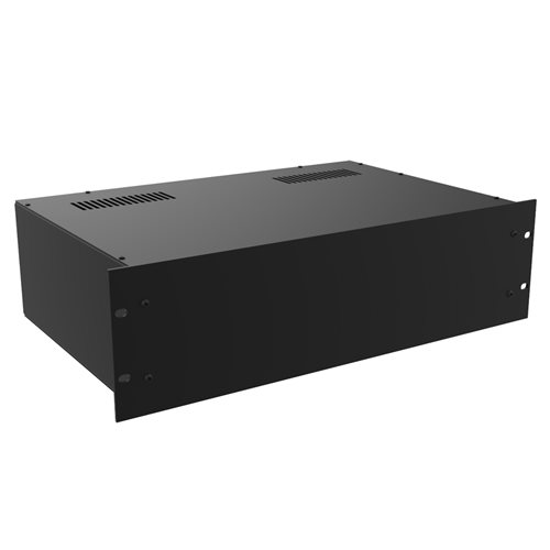 "Penn Elcom Project Box 19in 220mm/8.66"" Deep Black R2100/3UK"
