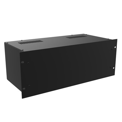"Penn Elcom Project Box 19in 4U x 220mm/8.66"" Deep Black R2100/4UK  - Click to view a larger image"