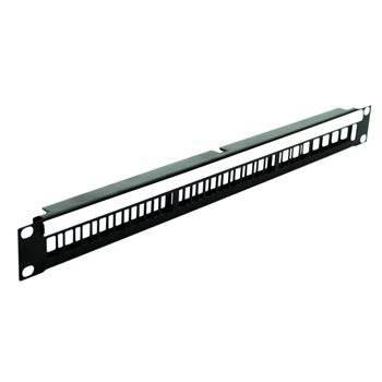 Penn Elcom 1U Rack Panel for 24 x Keystone Modules R1245/1UK  - Click to view a larger image