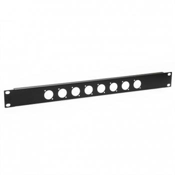 Penn Elcom 1U Rack Panel Punched for 8 x XLR or SpeakON R1269/1UK/08
