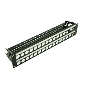 Penn Elcom 2U Rack Panel Punched for 32 D Series Connectors with Cable Mangement R2269-2UK-32