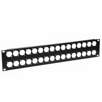 Penn Elcom 2U Rack Panel Punched For 32 x XLR or Speakon R1269/2UK/32