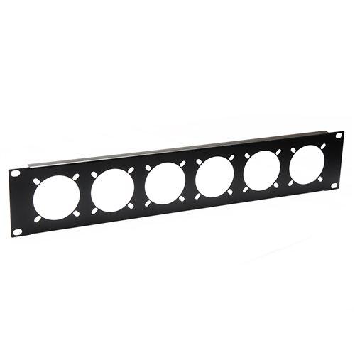 Penn Elcom 2U Rack Panel Punched for 6 x 16Amp Connectors R1268/2UK-721