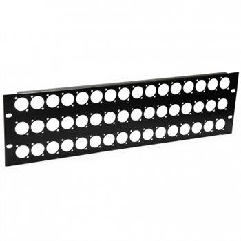 Penn Elcom 3U Rack Panel Punched For 48 x XLR or Speakon R1269/3UK/48