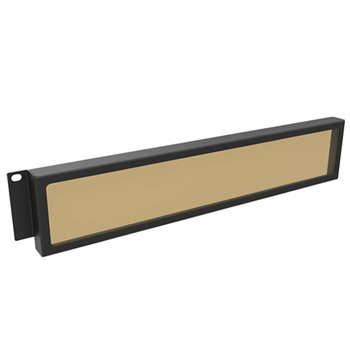 Penn Elcom 2U Security Rack Panel with Smoked Window R2287/2UK  - Click to view a larger image