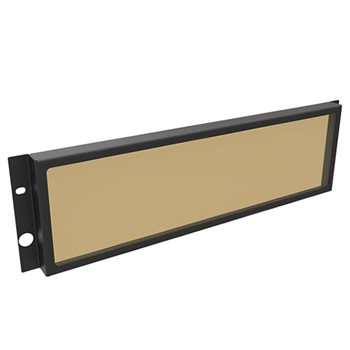 Penn Elcom 3U Security Rack Panel with Smoked Window R2287/3UK  - Click to view a larger image