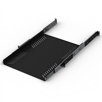 """Penn Elcom 1U Sliding Rack Tray 600mm / 23.62"""" Deep R1290-600/1UK  - Clique para visualizar a imagem ampliada"""