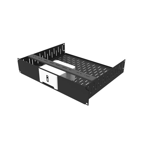 Penn Elcom 2U Rack Shelf & Faceplate Cut Out For 1 x Sonos Connect R1498/2UK-SONOS1  - Click to view a larger image