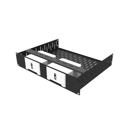 Penn Elcom 2U Rack Shelf & Faceplate Cut Out For 2 x Sonos Connect Units R1498/2UK-SONOS2  - Click to view a larger image
