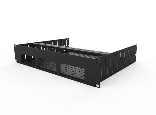 Penn Elcom 2U Rack Shelf Faceplate Cut Out For 3 x Sonos Bridge R1498/2UK-SB3  - Click to view a larger image
