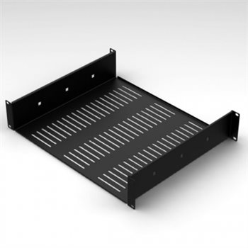 "Penn Elcom 2U Vented Rack Shelf With Rear Support 388mm/15.28"" Deep RSU02"