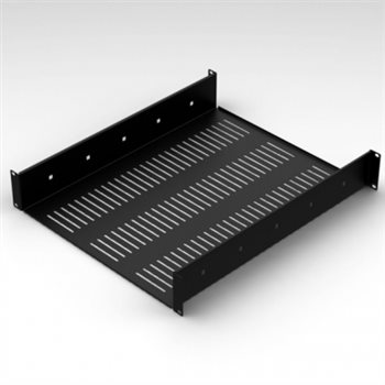 "Penn Elcom 2U Vented Rack Shelf With Rear Support 558mm/21.97"" Deep RSU02-600"